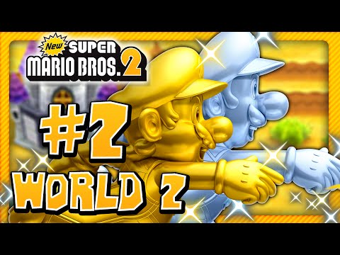 New Super Mario Bros  2 - World 5 (1/2) (2 Player) 100% - Super