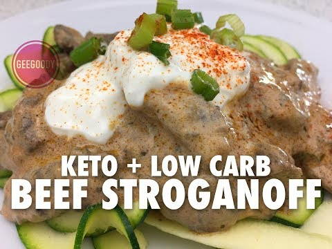 KETO BEEF STROGANOFF RECIPE | LOW CARB ZOODLES AND CHUCK