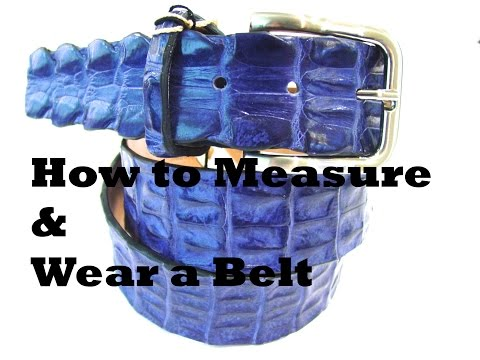 How to Measure and Wear a Men's Belt