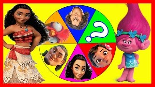 Moana Disney Game with Poppy from Trolls Movie, PJ Masks Toys, Paw Patrol Games, Peppa Pig