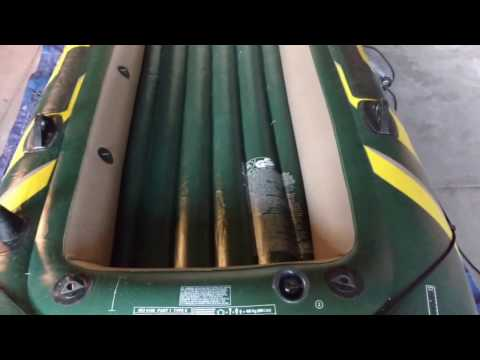How to Make a Wood Floor for an Inflatable Boat -  Intex Airhead Excursion Seahawk