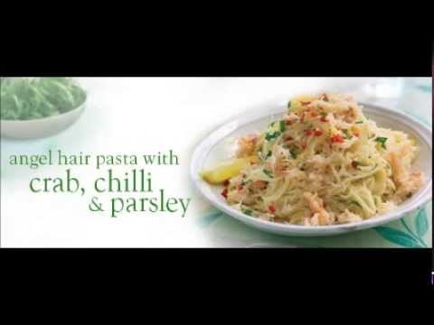 Angel Hair Pasta With Crab , Chilli & Parsley