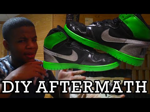 What Painting Shoes is Really Like + AFTERMATH [Angelus Paint]