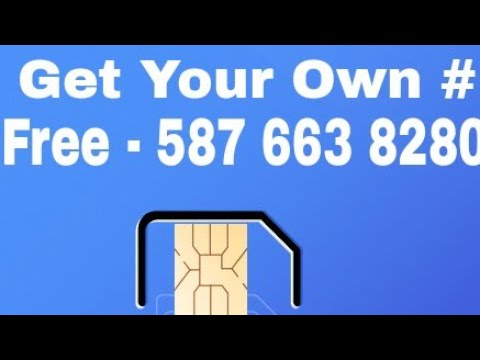 How to Get Free Phone Number- SIM / Call USA,CANADA/ SAFE TO USE