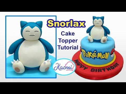 Pokemon: Snorlax Cake Topper / Cómo hacer a Snorlax para tortas