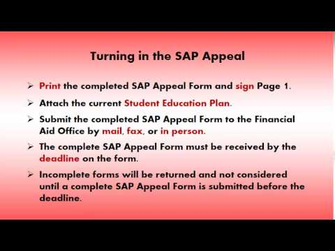 Part 14 - Turning in a Financial Aid Appeal