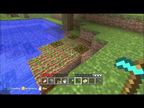 Minecraft for Xbox 360 Part 23 - Wheat Farming, Diamond Hoe