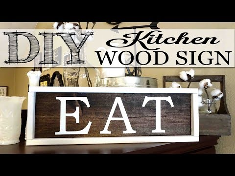 DIY Kitchen Wood Sign