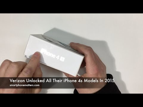 Verizon Unlocked All iPhone 4s Phones in 2015