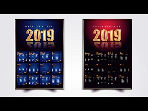 How To Make Calendar Design Full Training Tutorial Step by Step in Coreldraw x7 with AS GRAPHICS