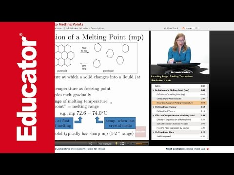 Definition of a Melting Point | Organic Chemistry Lab