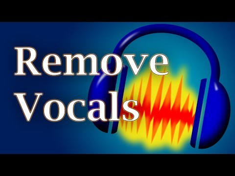 How to remove vocals from a song using AUDACITY!