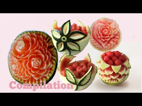 5 Ways to make WATERMELON CARVING