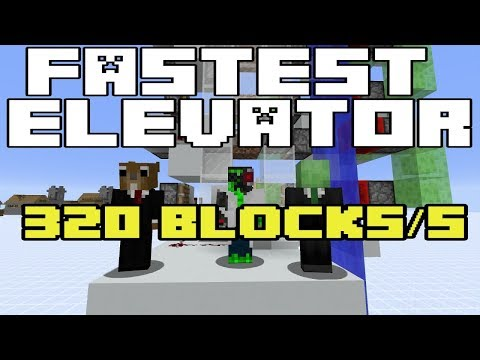 Minecraft 1.12.1 - FASTEST ELEVATOR POSSIBLE - 320 BLOCKS/SECOND