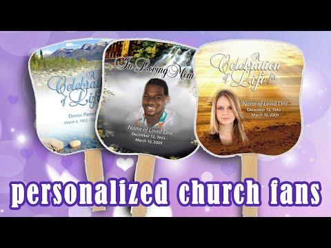 Beautiful Memorial Fans, Church Fan Kits, Funeral Fans