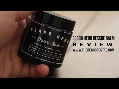 Beard Hero Rescue Balm Review. Perfect for softening your beard with a light natural hold.