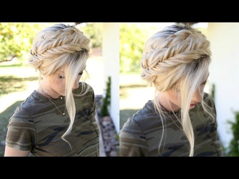 A spin on the average Milkmaid Braids | Hair Tutorial