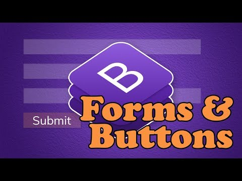 Bootstrap 4 Forms & Buttons | BOOTSTRAP 4 TUTORIAL