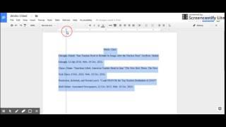Google Docs Hanging Indent