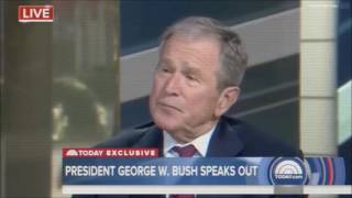 President George W.  Bush Gets Interrogated by One of His Most Delusional Inferiors - February 2017