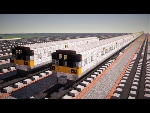 Minecraft LIRR M7 Railcar Train Tutorial