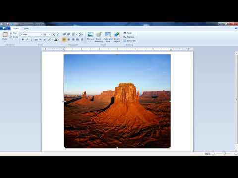 MS Word Pad Tutorial - How To Insert Picture
