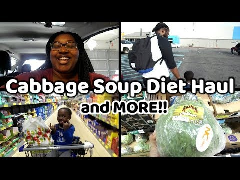 Cabbage Soup Diet Grocery Haul 2019