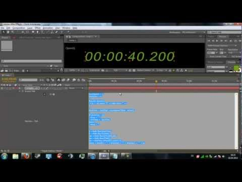 After Effects: Tutorial | How to create a digital timer / clock / countdown