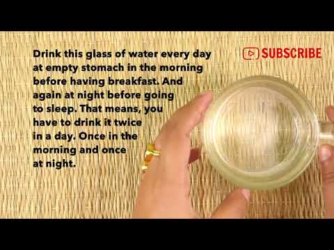 For Weight Loss drink Water and Reduce Weight Faster Then Ever!