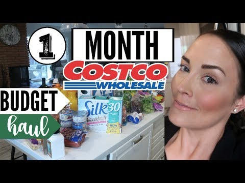 MARCH 2018 COSTCO GROCERY HAUL ● MONTHLY GROCERY SHOPPING ● WALMART HAUL SHOP WITH ME