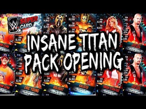 INSANE WWE SUPERCARD SEASON 4 PACK OPENING - SUPERCARD TITAN PACKS BABY!!