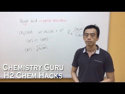 How to identify a Weak Acid and Weak Base - H2ChemHacks