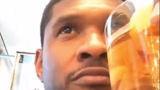 Usher Hiding In Bar Away From His Fans And The Media