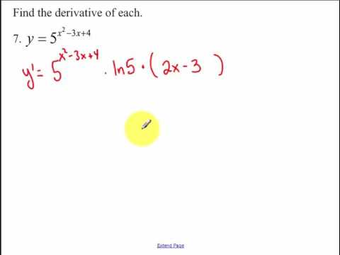 4.4 - Derivatives of Exponential and Logarithmic Functions (2017)