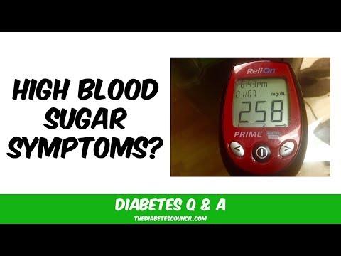 What Does High Blood Sugar Feel Like?