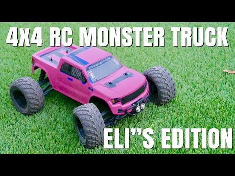 Distianert 4WD RC Monster Truck | RC Truck Modified and Repaired | ELI's Pink Edition