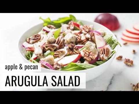 APPLE + PECAN ARUGULA SALAD | vegan salad recipe | #SALADWEEK