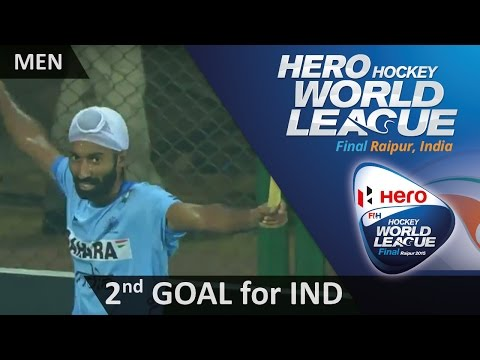 GBR 0-2 IND After a lightning break, Talwinder smashes in from a tight angle #HWL2015 #Raipur
