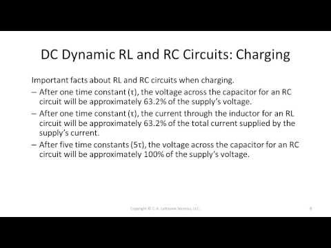 Certified Electronics Technician Exam Preparatory Flash Cards - DC Dynamic RL and RC Circuits
