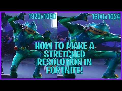 HOW TO MAKE A STRETCHED RESOLUTION IN FORTNITE BATTLE ROYALE!