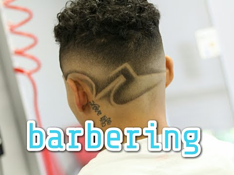 How to do Faded Design Haircut   Barber Tutorial