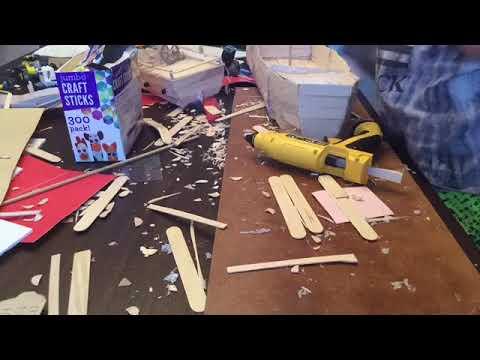 DIY popsicle stick pirate ship.