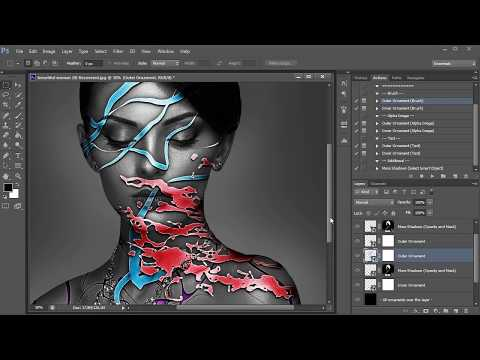Ornament Tool Photoshop Action Tutorial