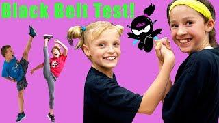 Paxton and Payton Test for Black Belt! Ninja Kidz