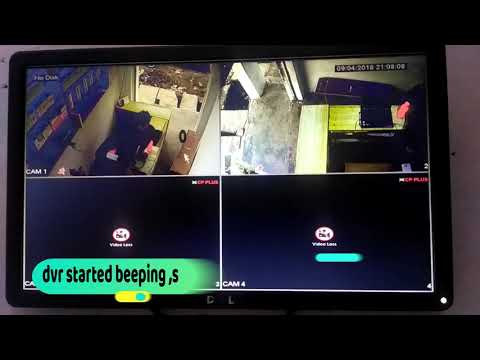 SOLUTION !!! CP PLUS DVR  (ERROR - NO  HARD DISK) & BEEPING !! HOW TO STOP CP PLUS DVR BUZZER, ALARM