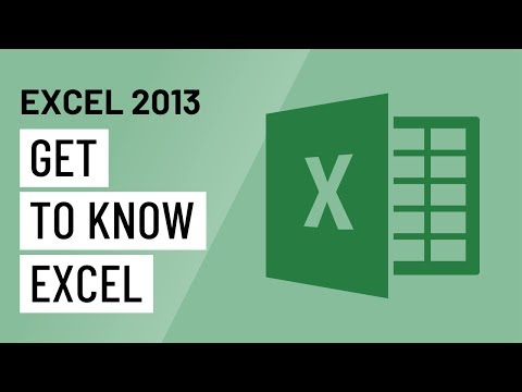 Excel 2013: Getting Started