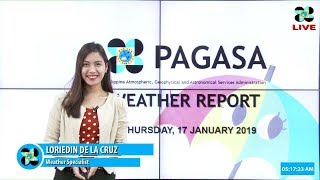 Download Public Weather Forecast Issued at 4:00 AM January 17, 2019 Video