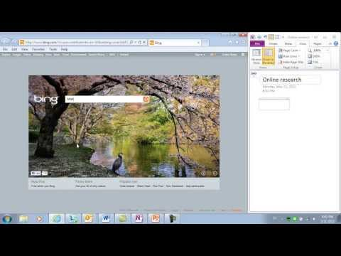 How to gather online research in Microsoft OneNote 2010