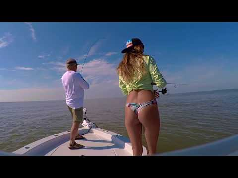 GIRL SHOWS YOU HOW TO CATCH BULL RED FISH