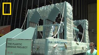 See the Brooklyn Bridge Model Made From 25,000 Plastic Bottles | National Geographic